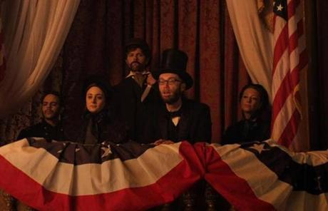 Stephen Merchant plays President Abraham Lincoln in the series premiere Tuesday.